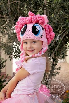 Pinkie Pie, created with love by Handmade Crocheted Hats  https://www.facebook.com/HandmadeCrochetedHats