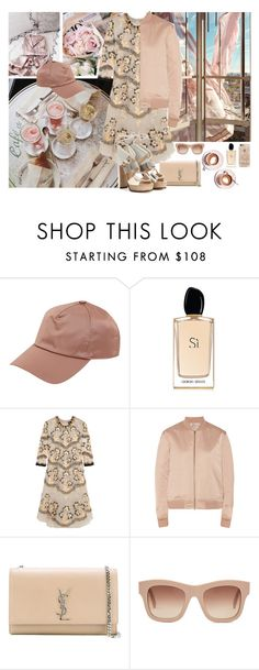"""Nude-ish."" by petitemia ❤ liked on Polyvore featuring Martha Stewart, Acne Studios, Giorgio Armani, Biyan, T By Alexander Wang, Yves Saint Laurent, STELLA McCARTNEY and Jimmy Choo"