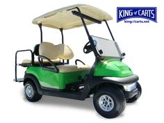 Lime green custom golf cart