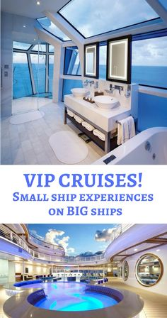 "You want the deluxe perks of small ship cruising. But you don't want to give up the benefits of big ship cruising – like lots of entertainment and restaurant options. Say ""hello"" to the exclusive ship within a ship concept. Drool over these 4 luxury ""ship within a ship"" cruises!"