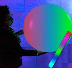 """Giant 24"""" light up LED beach ball for Futuristic Dancing fun  - for the wedding ,"""