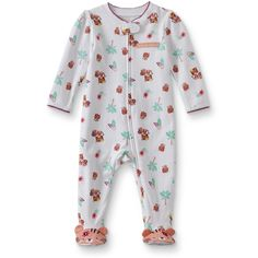 b1efd2189 Disney s Minnie Mouse Baby Girl 3D Bow Feet Printed Sleep   Play ...