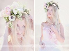 Floral crowns are perfect for a boho wedding.