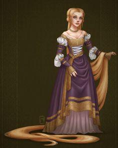 century German style, Tangled, Rapunzel The artist : Margot Denise Rapunzel Flynn, Rapunzel Cosplay, Disney Rapunzel, Princess Rapunzel, Princess Art, Disney Cosplay, Disney Girls, Princess Tattoo, Punk Princess