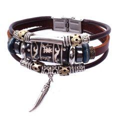 Honeystore Herren's Klein Pfeffer Anhänger Kuh Seil Legierung aus Holz Perlen OX-Knochen Tungsten Stahl Stein Leder Armband Farbe Mehrfarbig Länge 8 Inch - See more at: http://juwel.florentt.com/jewelry/honeystore-herren39s-klein-pfeffer-anhnger-kuh-seil-legierung-aus-holz-perlen-oxknochen-tungsten-stahl-stein-leder-armband-farbe-mehrfarbig-lnge-8-inch-de/