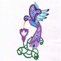"""This free embroidery design is from Design by Sick's """"Applique Hummingbird"""" collection"""