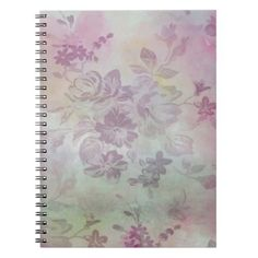 Grunge Watercolour Flower Floral Pattern Notebook - floral style flower flowers stylish diy personalize