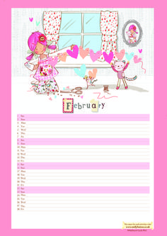 Download February's calendar page