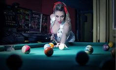 New website upload: Eyes On Me. Model: *CrowsReign - Make Up & Hair Styling: Lia Apostolopoulou Location: Nikaia Date: July 2013 Many thanks to my. Eyes on me. Billiard Pool Table, Billiards Pool, Billard Table, Pin Up Princess, Pin Up Poses, Boudoir Photos, Female Poses, Cool Pools, Beautiful Women