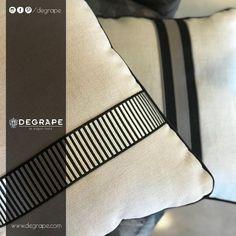 👉Evinize şıklık katmak isterseniz, birbirinden iddialı bordürlerimizi inceleyebilirsiniz.👈 ✨Bordür: Passion(üstteki yastık) ✨Bordür: Pantheon(alttaki yastık)  #bordür #perde #degrape #izmir #evdekorasyon #yastık #istanbul #curtain #upholstery #textile #design #interiordesign #elegant Istanbul, Textiles, Elegant, Classy, Fabrics, Chic, Textile Art