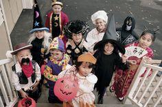 Halloween kids in costumes
