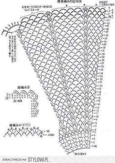 Parte inferior de vestido tejido