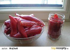 Naložené červené kapie recept - TopRecepty.cz Vegetables, Food, Essen, Vegetable Recipes, Meals, Yemek, Veggies, Eten