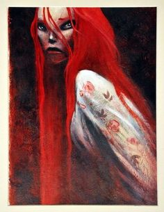 Le Dernier des Mohicans Illustrations, Lady In Red, Comic Art, Graphic Art, Character Design, Images, Sketches, Roman, Fantasy