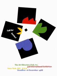 Paul Rand. Como con formas geométricas y a través de los espacios negativos y el color y la asociación por continuidad se construye la imagen