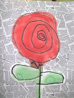rosa EI - ceres i aiguat. Diy For Kids, Crafts For Kids, Arts And Crafts, St Georges Day, Spring Art Projects, Spanish Art, Art N Craft, Collaborative Art, Rose Art