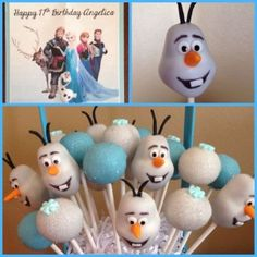 Disney Frozen Cake Pops These Disney Frozen Cake Pops are perfect for any young girls birthday party. I know if my little girl was 6 again. I would diffidently gets something like thi