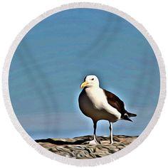#fun #seagull #beach towel  pixels.com
