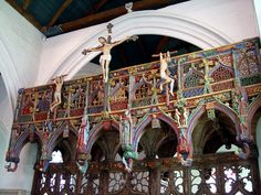 medieval church screen