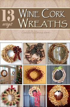 13 Creative Ways to Make Wine Cork Wreaths