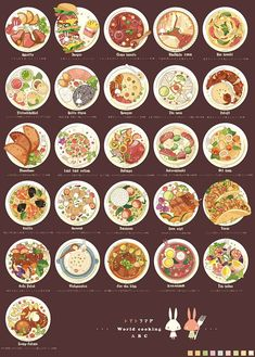 「トマトうさぎ - 世界の料理 ABC」...@季子乌采集到美食插图(167图)_花瓣插画/漫画: