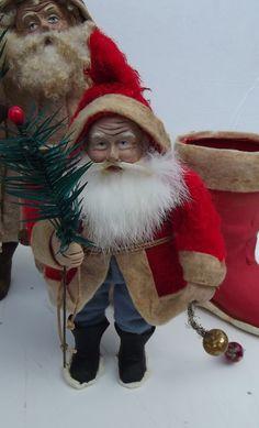 Handmade Santa Claus By Kim Sweet~Kim's Klaus~Ebay Seller.....kim-s-klaus-s....Red German Boot