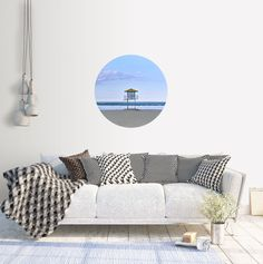Excited to share the latest addition to my #etsy shop: Adhesive Wall Decal Dot | Mount Maunganui Lifeguard Tower #art #photography #landscape #circle #adhesive #beach #newzealand #coast #sunset