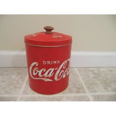 Coca Cola Coke Cookie Jar Tin: Kitchen