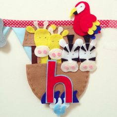 Noahs Ark animal bunting decoration by Bettybuntings on Etsy