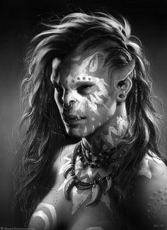 f Half Orc Barbarian portrait ArtStation - The Art of Warcraft Film - Draka, Wei Wang World Of Warcraft, Warcraft Film, Warcraft Art, Fantasy Races, Fantasy Rpg, Fantasy Artwork, Dark Fantasy, Fantasy Portraits, Fantasy Women