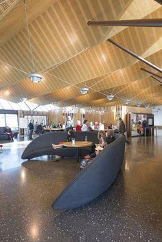 Christchurch Airport Regional Terminal by BVN Donovan Hill & Jasmax Christchurch New Zealand, Airport Design, Public Architecture, Air New Zealand, International Airport, Airports, Regional, Transportation, Buildings