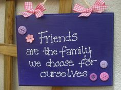 FRIENDSHIP sign/plaque in purple and pink great by SamsShenanigans, $15.00