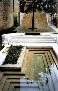 Entrance to the Courtyard of the Faculty of Architecture in Venice by Carlo Scarpa architecture The Venetian City Garden Water Architecture, Amazing Architecture, Architecture Details, Interior Architecture, Ancient Architecture, Sustainable Architecture, Urban Landscape, Landscape Design, Garden Design