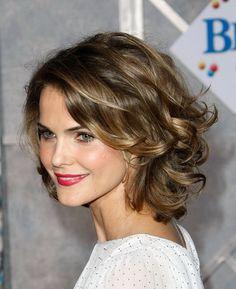 Medium length layered curly hairstyles