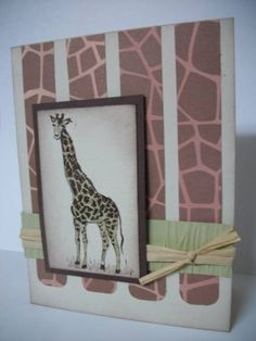 Giraffe (SC343) by MrsBoz - Cards and Paper Crafts at Splitcoaststampers