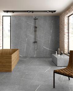 Bathroom Design Inspiration, Bathroom Interior Design, Bathroom Designs, Bathroom Ideas, Design Ideas, Grand Format, Marble Effect, Wood Bathroom, Bath Remodel
