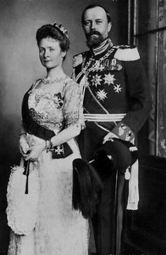 Their Serene Highnesses Prince Leopold and Princess Bertha of Lippe. Married: August 16, 1901