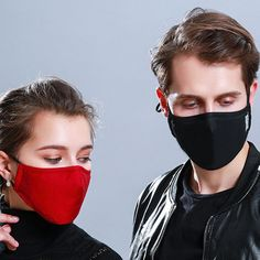 * Cotton PM2.5 Black mouth Mask anti dust mask Activated carbon filter Windproof Mouth-muffle bacteria proof Flu Face masks Care - Premium Flu Masks