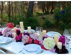 mesa imperial monocromática rosa