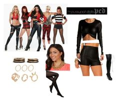 """""""Halloween Costume-Pussycat Dolls"""" by ashgoins ❤ liked on Polyvore featuring Pussycat, Steve Madden and Kate Spade"""
