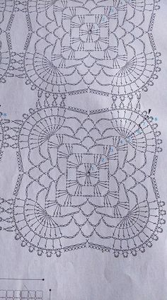 Lovely Crochet Doily Diagram, Filet Crochet Charts, Crochet Square Patterns, Crochet Motifs, Crochet Blocks, Crochet Round, Crochet Squares, Crochet Granny, Crochet Designs