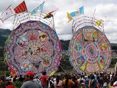 Guatemalan kite festival in Santiago Sacatepéquez