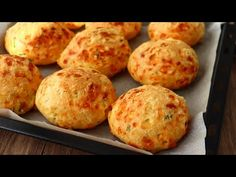 1 bicchiere di ACQUA e cuoci in 10 minuti! Incredibilmente VELOCE, delizioso e facile - YouTube Recipes With Yeast, Cooking Recipes, Pasta Choux, Different Types Of Bread, Cheese Scones, Brunch, Savory Muffins, Puff Pastry Recipes, Savoury Baking