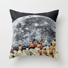 MOONRISE Throw Pillow by Beth Hoeckel Collage & Design - $20.00