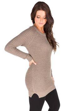 Shaker Knit Tunic Sweater