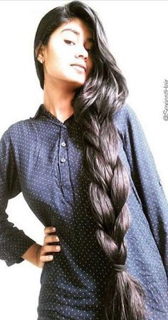 Indian Hair Highlights, Indian Hair Color, Indian Hair Cuts, Indian Long Hair Braid, Braids For Long Hair, Long Hair Girls, Long Black Hair, Long Layered Hair, Long Hair Cuts