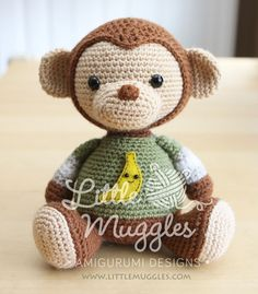 Amigurumi Crochet Pattern  Miles the Monkey by littlemuggles