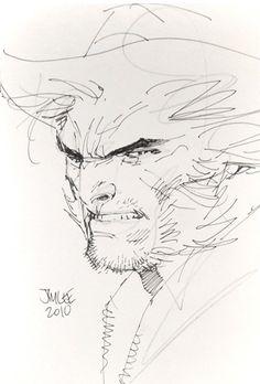 Wolverine sketch   Jim Lee