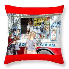 Throw Pillow featuring the photograph Ice Cream Truck by Silvia Bruno