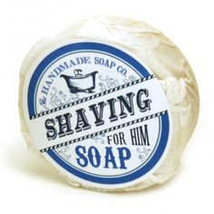 """The Handmade Soap Co. - the one purchase you need to make in the month of March - a Made in Ireland product! Shaving Soap For Him, 3"""" Puck"""